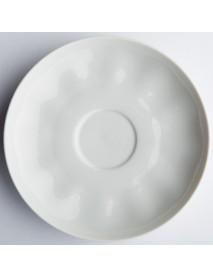 Блюдце чайное 150 мм Тюльпан Белое