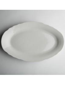 Блюдо овальное 350 мм Вырезной край Белое