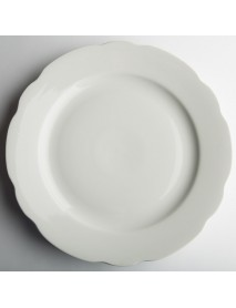 Блюдо круглое 300 мм Вырезной край Белое