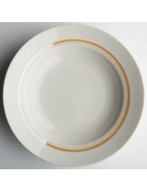 Тарелка глубокая диам. 200 мм Гладкий край Отводка люстром