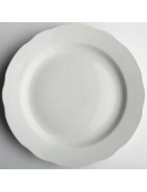 Тарелка мелкая диам. 200 мм Вырезной край Белая