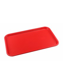 Поднос столовый из полипропилена 525х325 мм красный