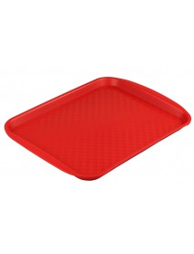 Поднос столовый из полипропилена 330х260 мм красный