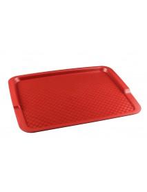 Поднос столовый из полипропилена 425х320 мм красный
