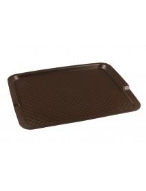Поднос столовый из полипропилена 425х320 мм коричневый