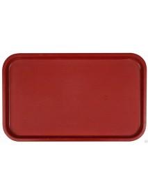 Поднос столовый из полипропилена 530x330 мм темно-красный
