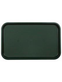 Поднос столовый из полипропилена 530x330 мм темно-зеленый