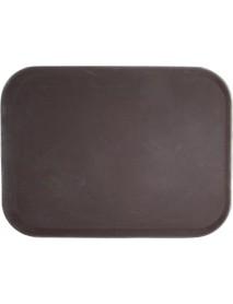 Поднос прорезиненный прямоугольный 500х380х25 мм коричневый