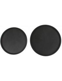 Поднос прорезиненный круглый 400х25 мм черный