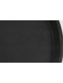 Поднос прорезиненный круглый 350х25 мм черный