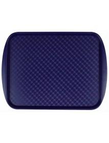Поднос столовый из полистирола 450х350 мм синий