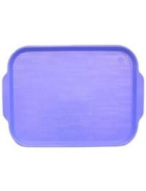 Поднос столовый из полистирола 450х355 мм голубой