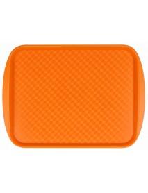 Поднос столовый из полистирола 420х300 мм оранжевый