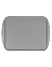 Поднос столовый из полистирола 420х300 мм серый