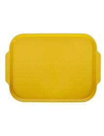 Поднос столовый 450х355 мм с ручками желтый