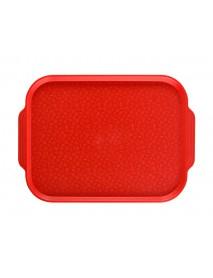 Поднос столовый 450х355 мм с ручками красный