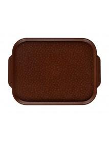 Поднос столовый 450х355 мм с ручками темно-коричневый