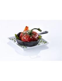Сковорода 106/24 мм с ручкой и двумя носиками порционная чугун Luxstahl