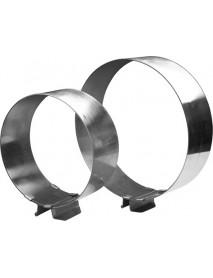 Форма для выпечки «Кольцо» раздвижное 160х300/65 мм, нержавеющая сталь