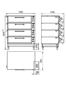 Шкаф жарочно–пекарский ЭШП-4с, оцинкованный