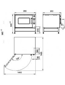 Шкаф жарочный ШЖ-150-1с, камера черн металл