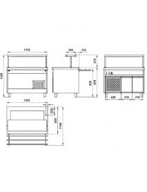 Прилавок холодильный открытый ПВ(Н)О-1(2)