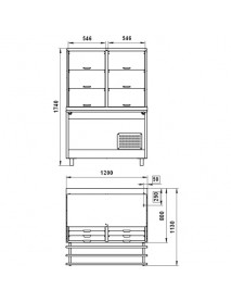Витрина холодильная ВВ(Н)3-1(2)