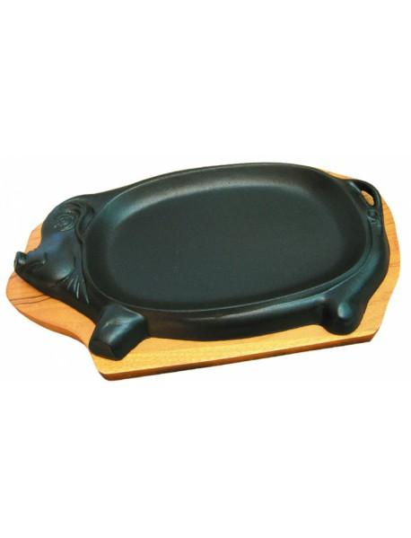 Сковорода чугунная «Поросенок» (28х16 см) 92001016