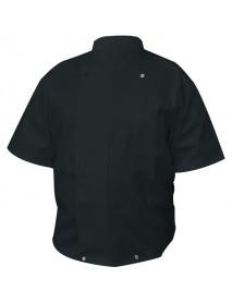 Куртка поварская с коротким рукавом, черная (48 разм.)  71047205
