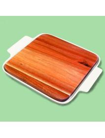 Блюдо квадратное со вставкой из акации 99002823