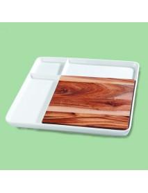 Блюдо квадратное со вставкой из акации 99002806