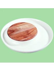 Блюдо круглое со вставкой из акации 99002802