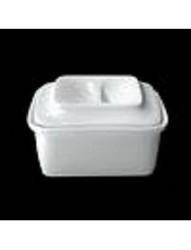 Емкость для запекания с крышкой, фарфор (600 мл) ИСО 23.600