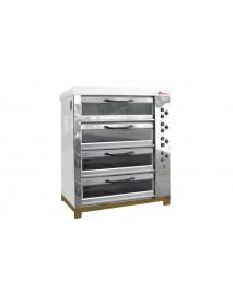 Хлебопекарная ярусная печь ХПЭ-750/4С (нержавеющая облицовка, стеклянные дверки)