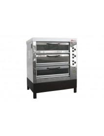 Хлебопекарная ярусная печь ХПЭ-750/3С (нержавеющая облицовка, стеклянные дверки)